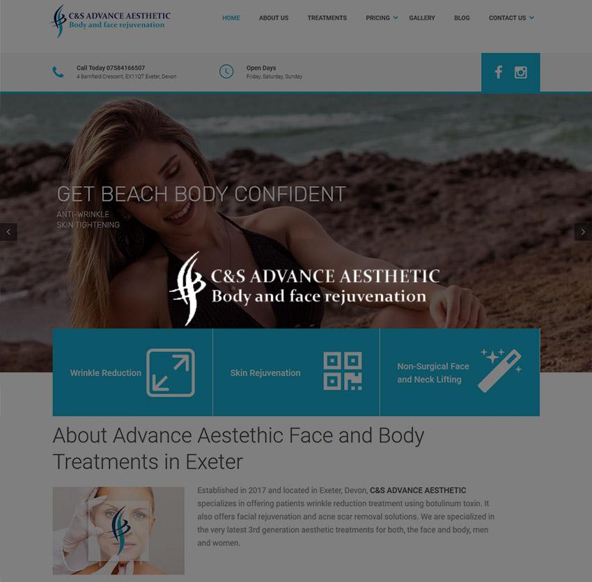 web design site de prezentare salon intretinere corporala